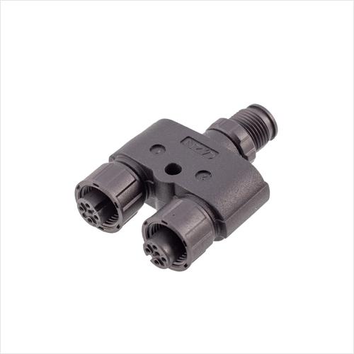 M12-Y型插头转接器(塑胶版)