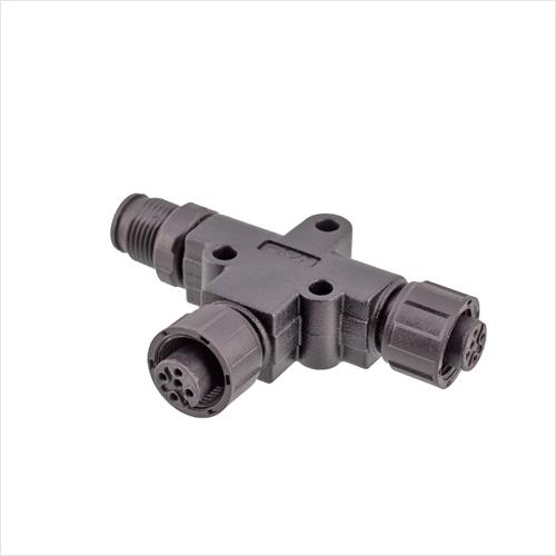 M12-T型插头转接器(塑胶版)