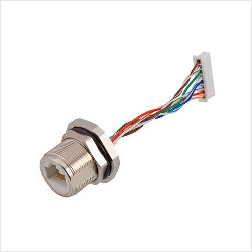 防水RJ45金属带线插座