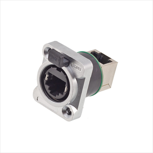 防水工业RJ45-PX插座-90°