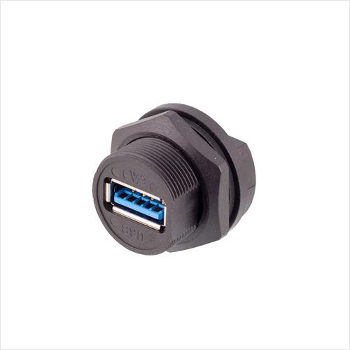防水USB 3.0 板后安装插座