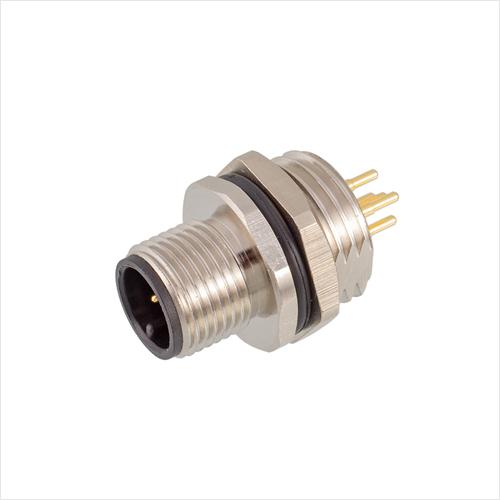M12板前安装针型插座PCB