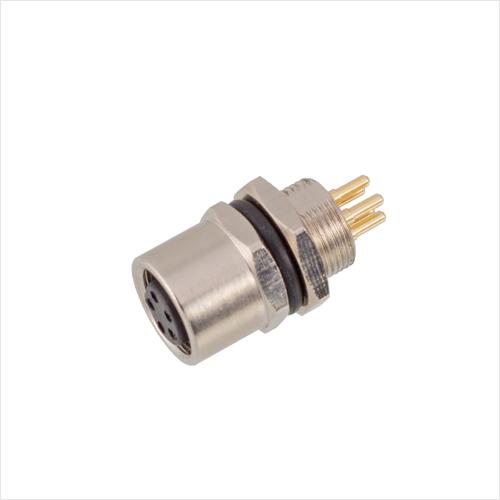 M8板前安装孔型插座PCB